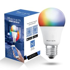 Marrath Smart Wi-Fi Multi Color RGBW Bulb MSHLA002 - www.yallagoom.com.qa