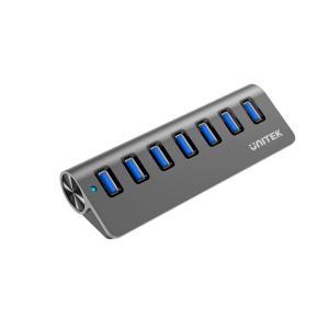 Unitek USB3.0 7-Port Aluminium Hub - www.yallagoom.com.qa