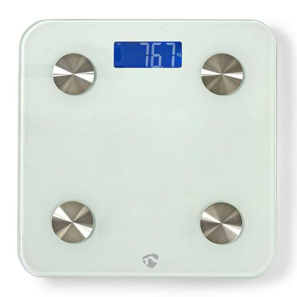 Wi-Fi Smart Personal Scales   BMI, Fat, Water, Bones, Muscle, Protein   Tempered Glass   8 Users-Yallagoom.com.qa