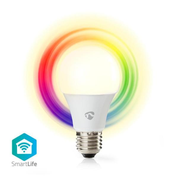 Nedis WiFi Smart LED Bulb | Full Colour and Warm White | E27-yallagoom.com.qa